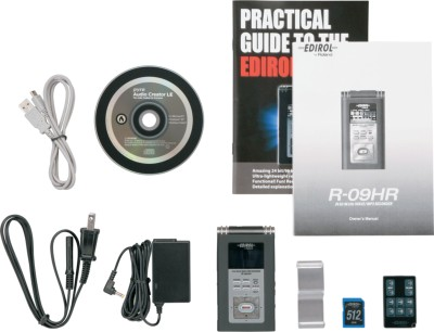 Edirol R-09HR Box Contents