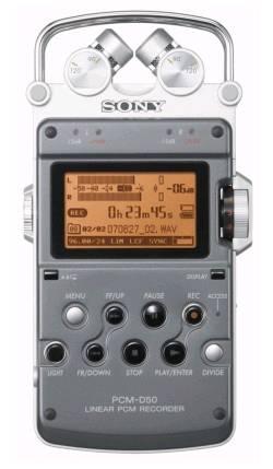sony pcm d50 front