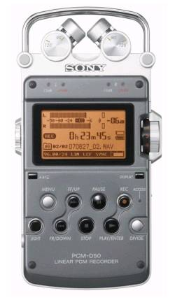 sony pcm d50 front