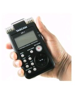 Tascam DR-1 in hand