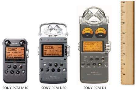 View of all Sony PCM recorders