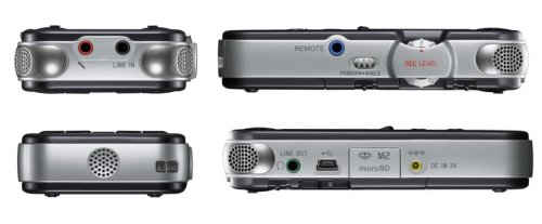 End and Side Views of Sony PCMM10